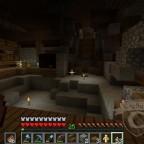 Ich war eben (!) fertig mit der Einrichtung der Burg. Merke: Gelagertes TNT als Deko und Feuerpfeile vertragen sich nicht gut.