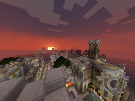 Sonnenuntergang über Pselkis