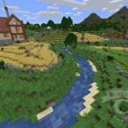 Fluss und Landwirtschaft vor den Mauern Kan Morans