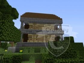 Seite des Hauses