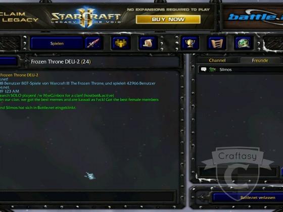 Craftasy macht nun auch in Warcraft 3 Werbung.
